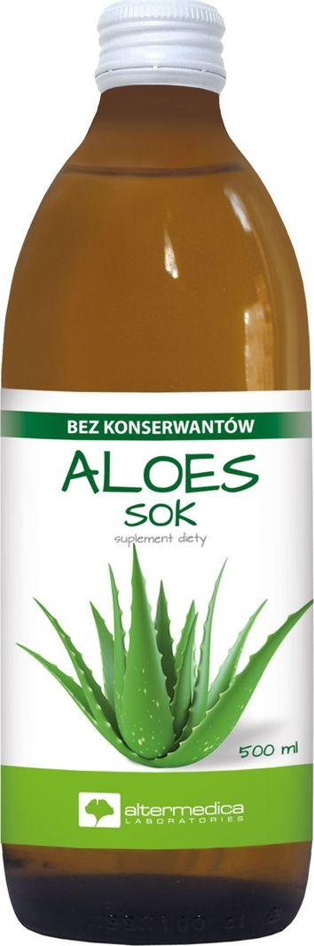 ALTER MEDICA Sok Z Aloesu 500 Ml Naturalny Sok Z Aloesu Bez Konserwantów 1