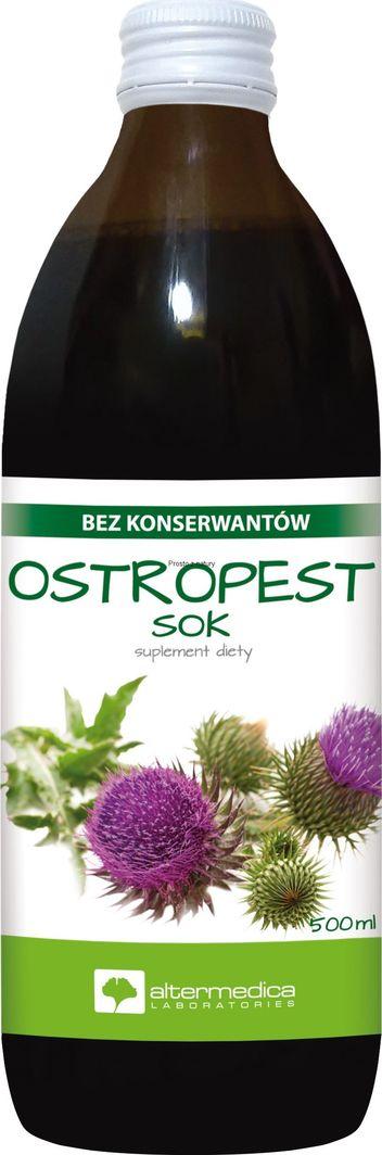 ALTER MEDICA Ostropest Sok 500 Ml Bez Konserwantów Suplement Diety 1
