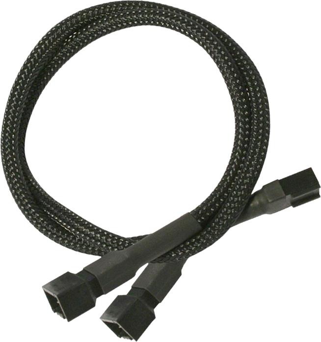 Nanoxia 3-Pin Molex rozgałęźnik 30 cm, czarny (900100002) 1