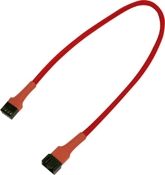 Nanoxia 4-Pin PWM przedłużacz 30cm, czerwony (900300011) 1