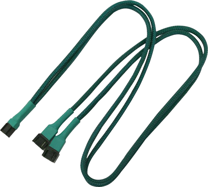 Nanoxia 3-Pin Molex rozgałęźnik 60cm, zielony (900500003) 1