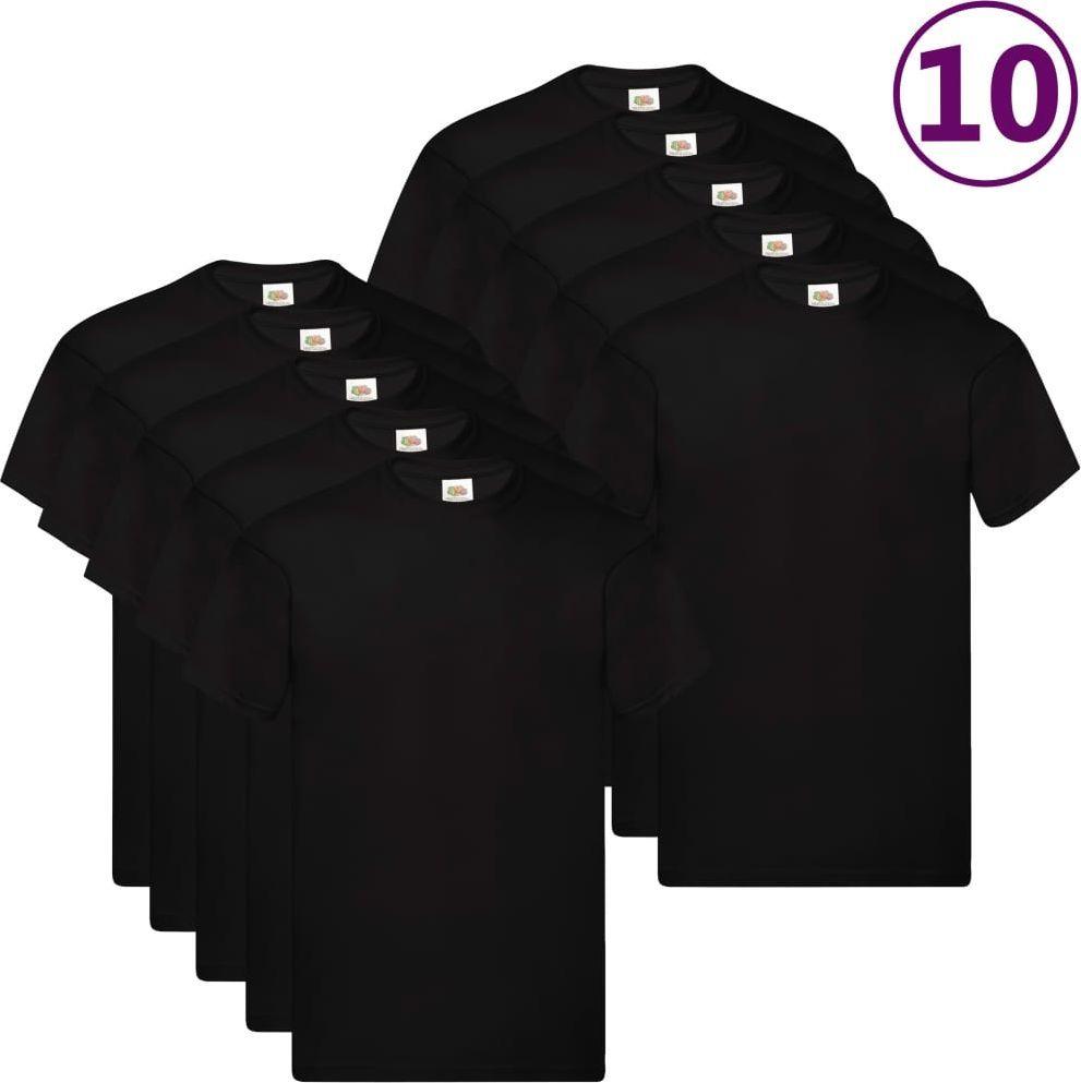 Fruit of the Loom Oryginalne T-shirty, 10 szt., czarne, 4XL, bawełna 1