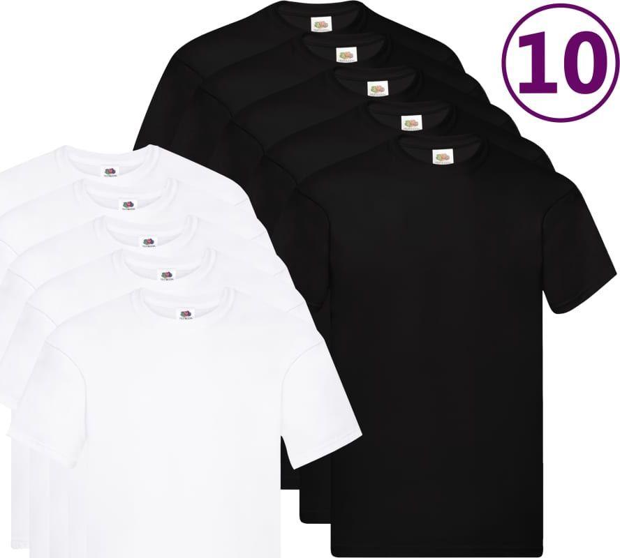 Fruit of the Loom Oryginalne T-shirty, 10 szt., biały/czarny, XL, bawełna 1