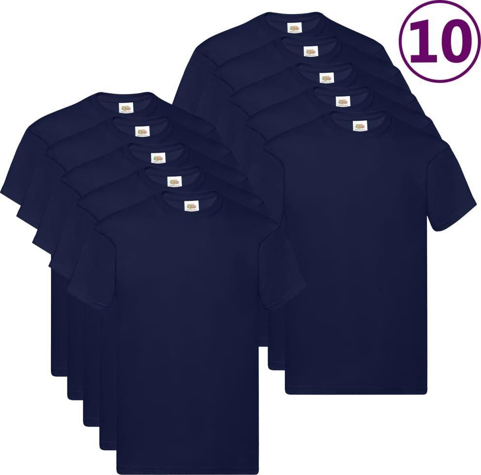 Fruit of the Loom Oryginalne T-shirty, 10 szt., granatowe, XL, bawełna 1