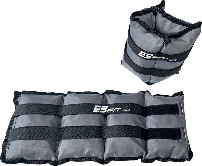 Eb Fit Obciażenie na przeguby EB FIT 2x3kg szare 1015026 1