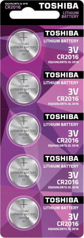 Toshiba BATERIA TOSHIBA LITOWA CR2016 3V 5SZT 1