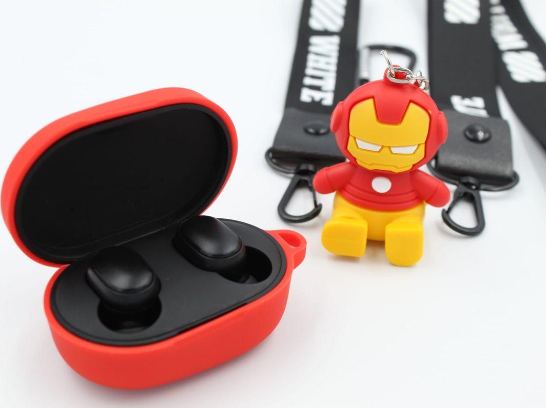 Słuchawki Xiaomi Redmi AirDots 2 + Etui Superhero Ironman 1