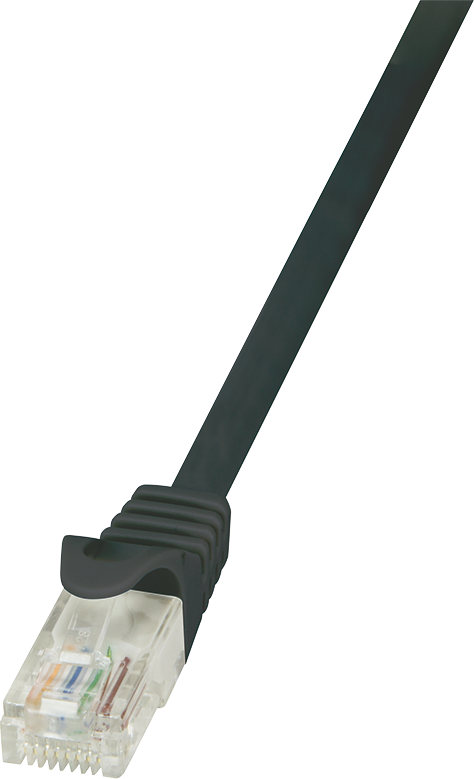 LogiLink CAT 5e Patchcord U/UTP Czarny 0.25M (CP1013U) 1