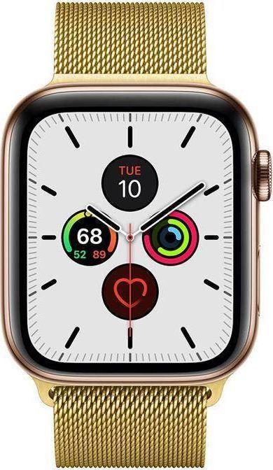 Crong Pasek ze stali nierdzewnej Crong Milano Steel do Apple Watch 42/44 mm złoty 1