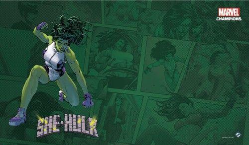 Fantasy Flight Games Marvel Champions: The Game Mat - She-Hulk 1
