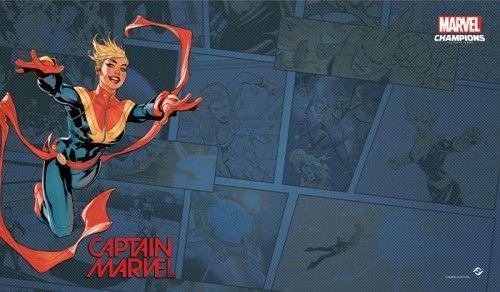 Fantasy Flight Games Marvel Champions: The Game Mat - Captain Marvel 1