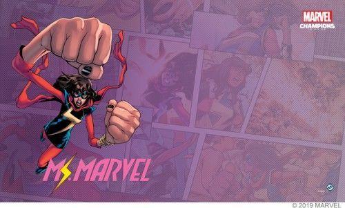 Fantasy Flight Games Marvel Champions: Ms. Marvel Game Mat 1