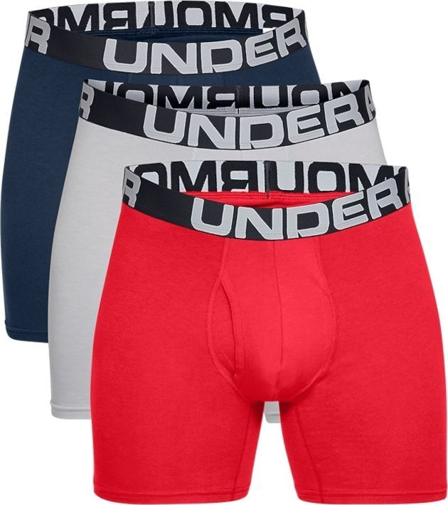 Under Armour Under Armour Charged Cotton 6IN 3 Pack 1363617-600 czerwone XL 1
