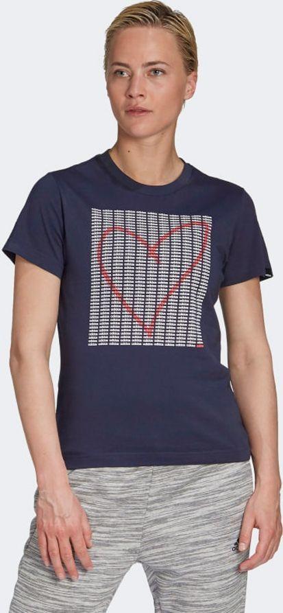 Adidas Koszulka W ADI HEART T GD4997 granatowy M 1