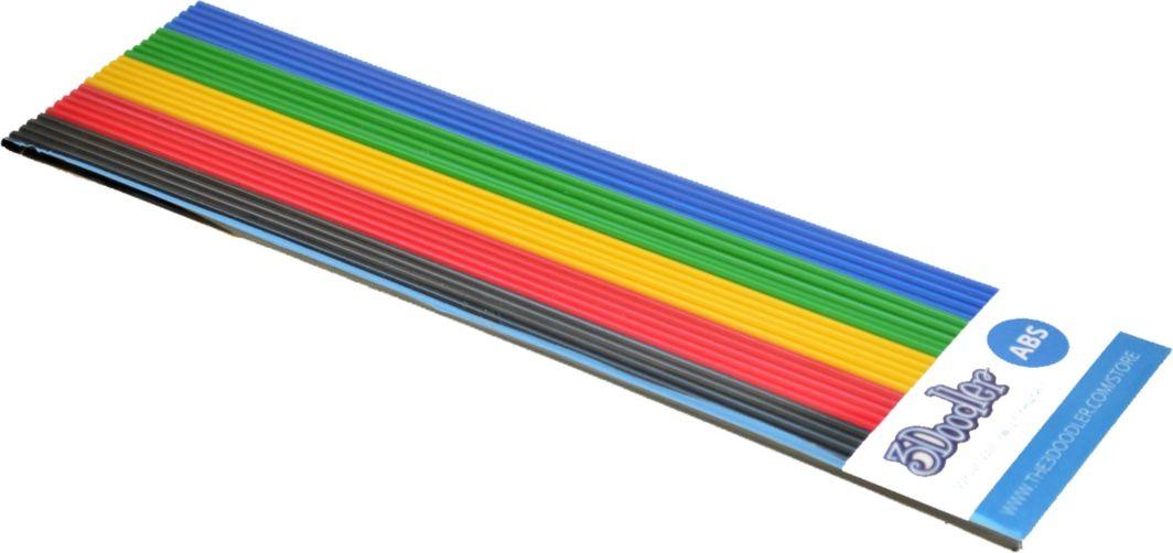 3Doodler Filament ABS - Wkłady zapasowe do długopisu 3Doodler 25 sztuk, 5 kolorów (AB-MIX1) 1