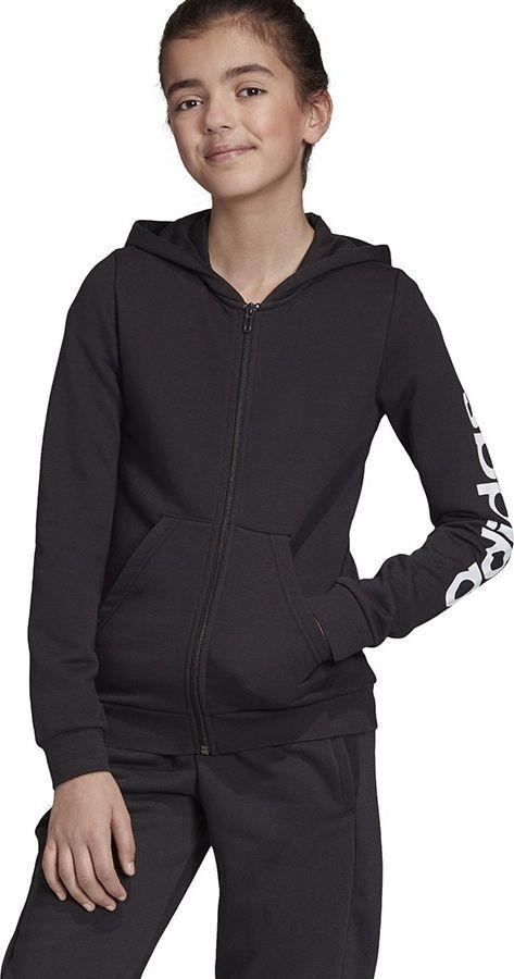 Adidas Bluza adidas YG E LIN FZ HD EH6124 EH6124 czarny 134 cm 1