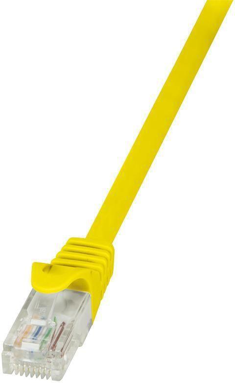 LogiLink Patchcord CAT 6 U/UTP EconLine, 1m, żółty (CP2037U) 1