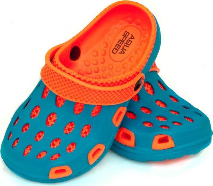 Aqua-Speed Klapki dziecięce basenowe, na plażę, chodaki SILVI 24-29 turkus Aqua-Speed Rozmiar 26 1