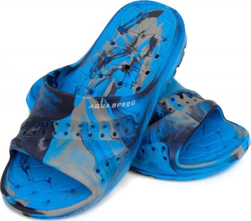 Aqua-Speed Klapki basenowe, dla dzieci, na plażę PATMOS niebiesko-szare Aqua-Speed Rozmiar 33 1