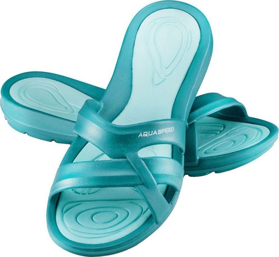 Aqua-Speed Klapki basenowe, na plażę PANAMA turkusowe Aqua-Speed Rozmiar 42 1