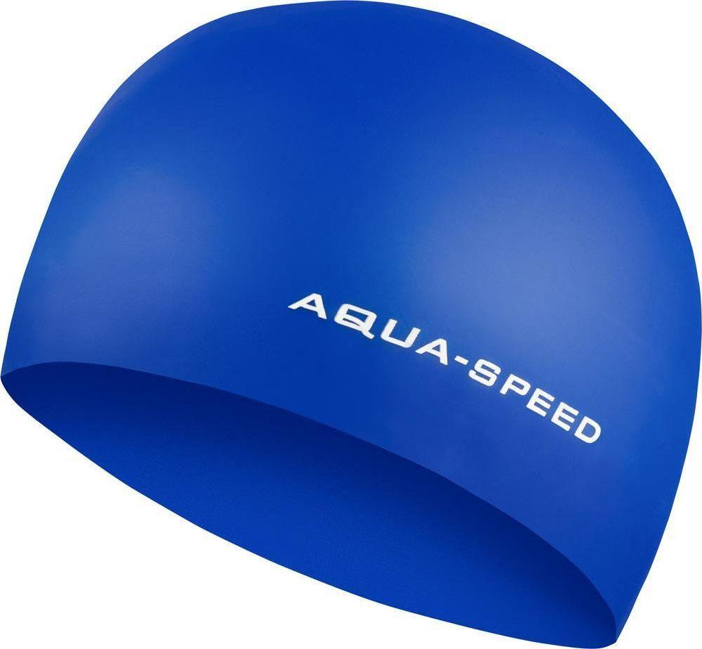 Aqua-Speed Czepek pływacki z silikonu 3D CAP niebieski Aqua-Speed 1