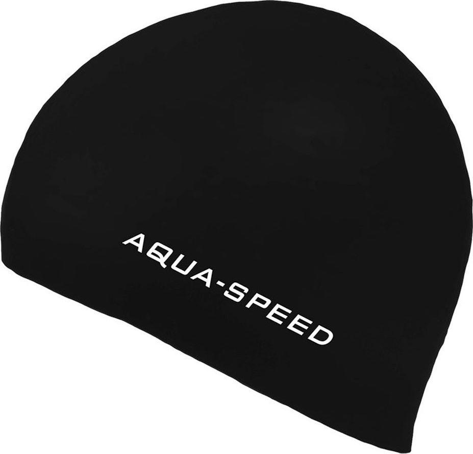 Aqua-Speed Czepek pływacki z silikonu 3D CAP czarny Aqua-Speed 1