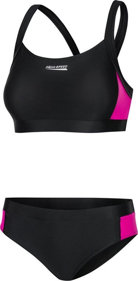 Aqua-Speed Kostium pływacki Strój kąpielowy NAOMI 19 czarno-fioletowy Aquaspeed Rozmiar 34 1