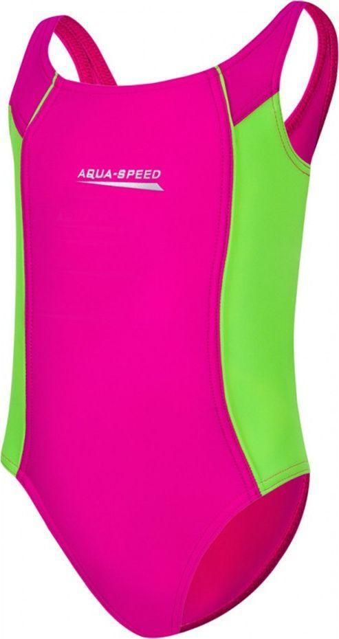 Aqua-Speed Strój kąpielowy dziewczęcy LUNA różowy 104-128 Aqua Speed Rozmiar 128 cm 1