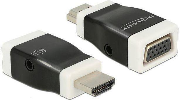Adapter AV Delock HDMI-A (M) - VGA (F) z funkcją audio (65586) 1