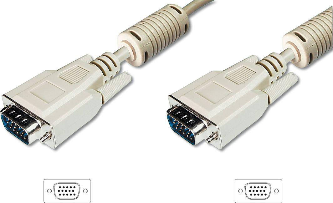 Kabel Ansmann D-Sub (VGA) - D-Sub (VGA) 3m biały (AK-310103-030-E) 1