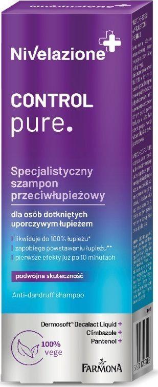 Farmona Nivelazione Control Pure specjalistyczny szampon przeciwłupieżowy  1