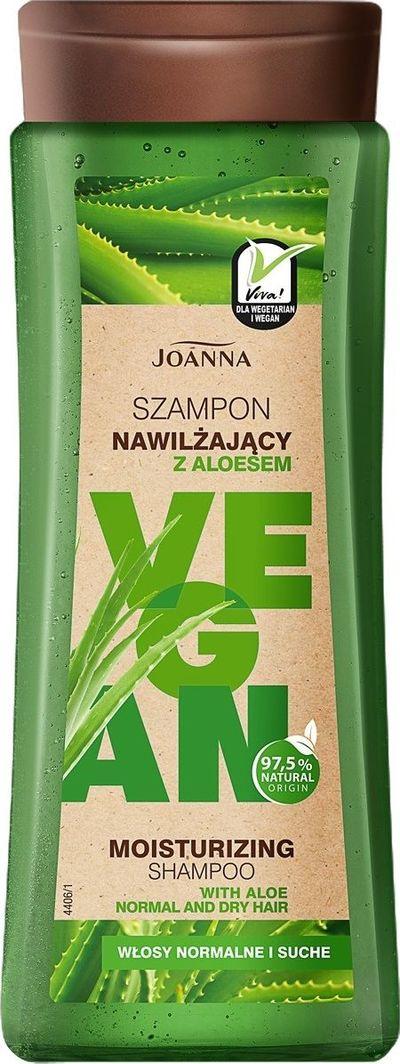 Joanna Vegan Szampon do włosów nawilżający Aloes  1