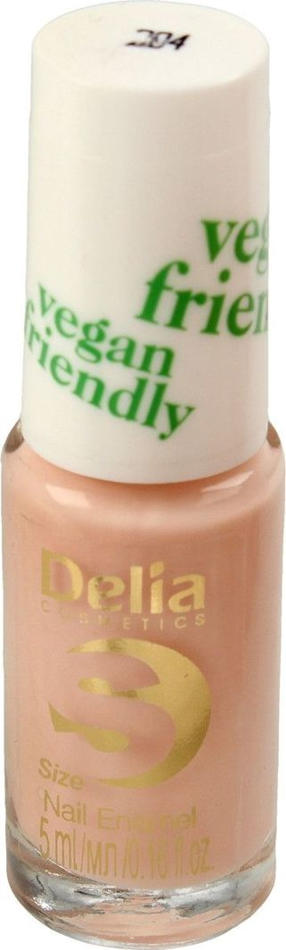 Delia Delia Cosmetics Vegan Friendly Emalia do paznokci Size S nr 204 Honey Pink 5ml 1