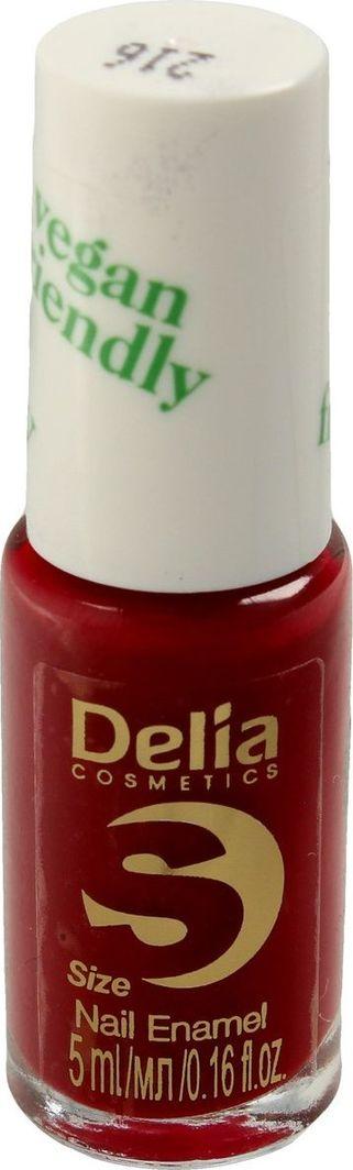 Delia Delia Cosmetics Vegan Friendly Emalia do paznokci Size S nr 216 Cherry Bomb 5ml 1