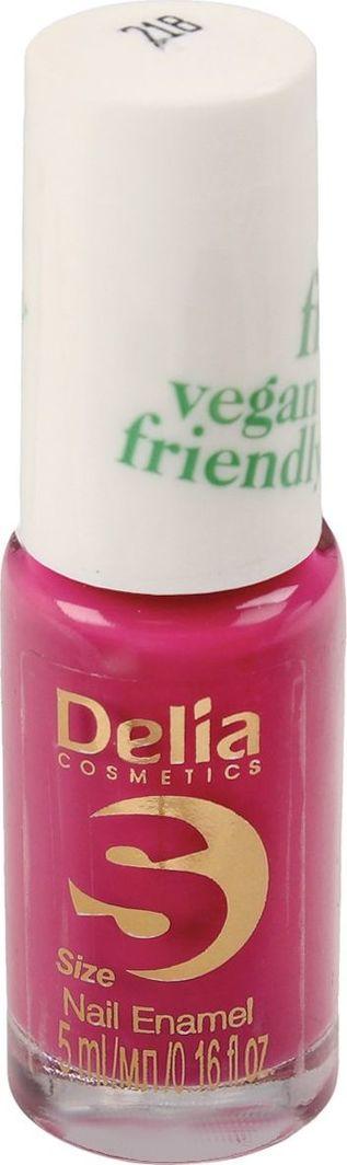Delia Delia Cosmetics Vegan Friendly Emalia do paznokci Size S nr 218 Pink Promise 5ml 1
