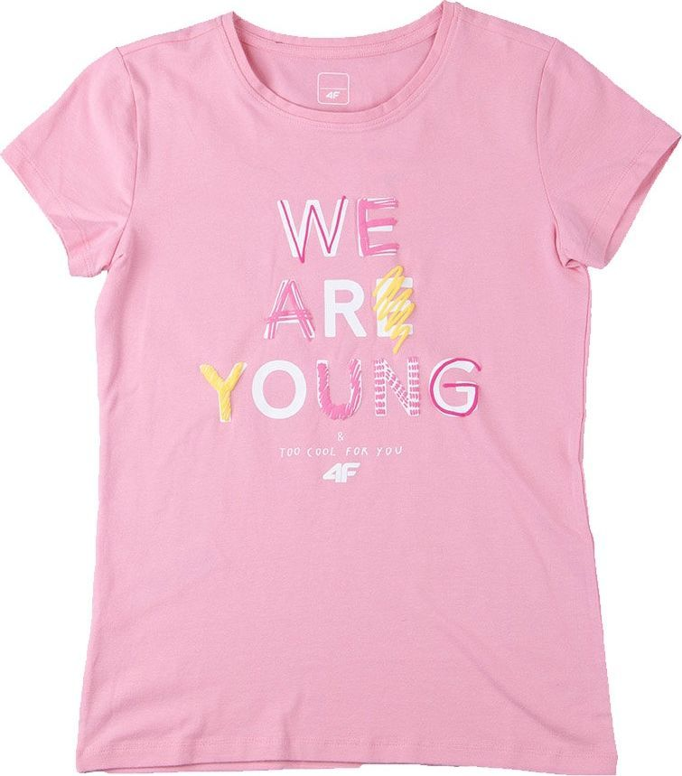 4f T-shirt 4F HJZ20-JTSD002 56S HJZ20-JTSD002 56S różowy 164 cm 1