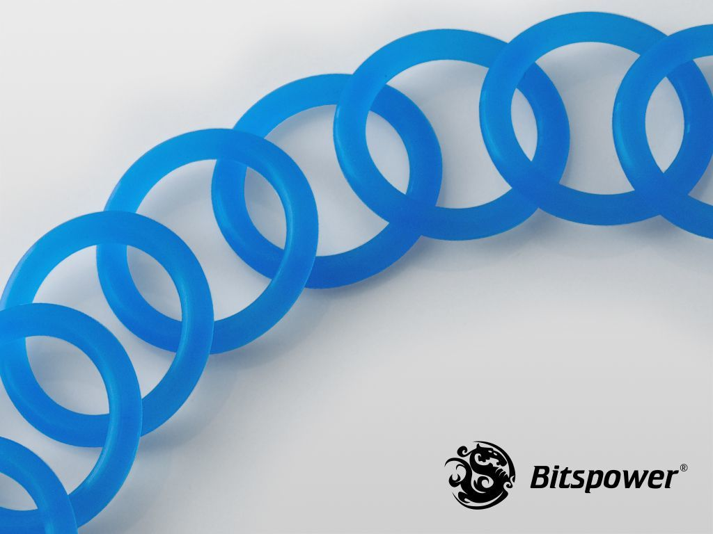 "BitsPower O-Ring G1/4"", 10 sztuk, UV niebieski (BP-WTP-O10-UVBL) 1"
