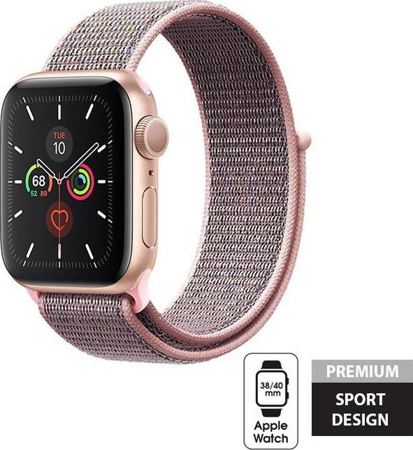 Crong Crong Nylon Band - Pasek sportowy Apple Watch 38/40 mm (Light Pink) uniwersalny 1