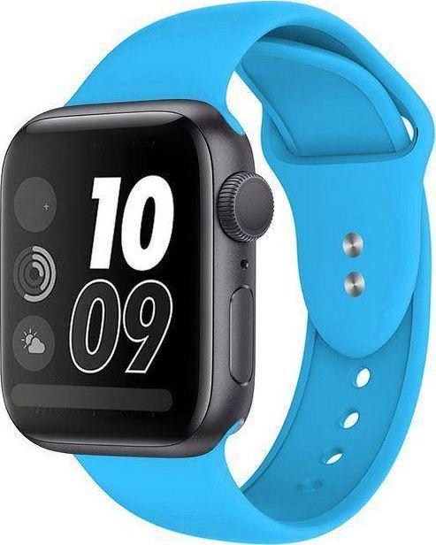 Crong Crong Liquid Band - Pasek Apple Watch 42/44 mm (niebieski) uniwersalny 1
