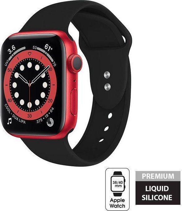 Crong Crong Liquid Band - Pasek Apple Watch 38/40 mm (czarny) uniwersalny 1