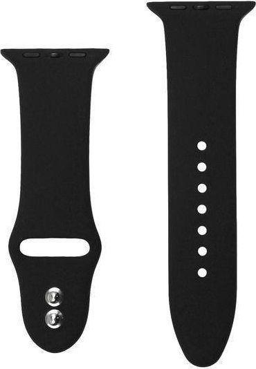 Crong Crong Liquid Band - Pasek Apple Watch 42/44 mm (czarny) uniwersalny 1
