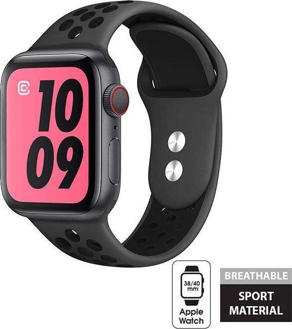 Crong Crong Duo Sport Band - Pasek Apple Watch 38/40 mm (szary/czarny) uniwersalny 1