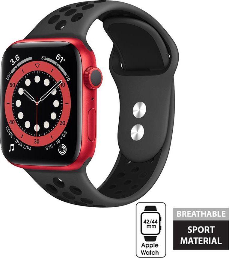 Crong Crong Duo Sport Band - Pasek Apple Watch 42/44 mm (szary/czarny) uniwersalny 1