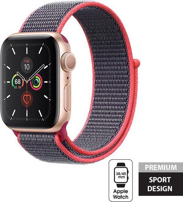 Crong Crong Nylon Band - Pasek sportowy Apple Watch 38/40 mm (Electric Pink) uniwersalny 1