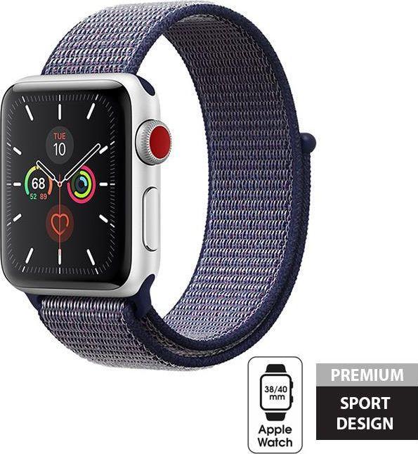Crong Crong Nylon Band - Pasek sportowy Apple Watch 38/40 mm (Midnight Blue) uniwersalny 1