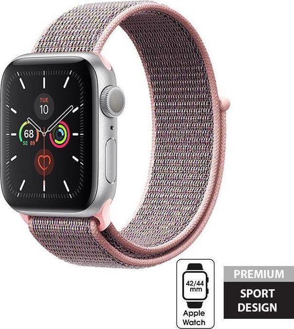 Crong Crong Nylon Band - Pasek sportowy Apple Watch 42/44 mm (Light Pink) uniwersalny 1