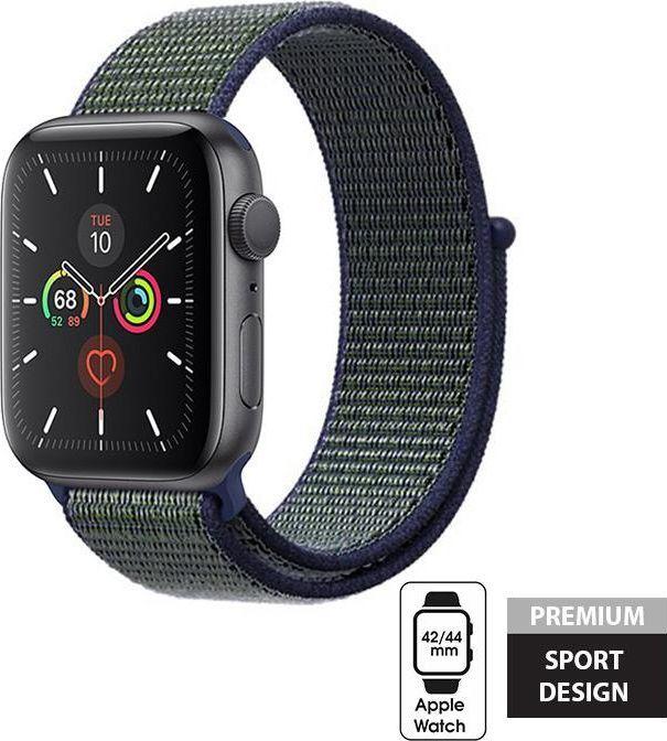 Crong Crong Nylon Band - Pasek sportowy Apple Watch 42/44 mm (Midnight Fog) uniwersalny 1