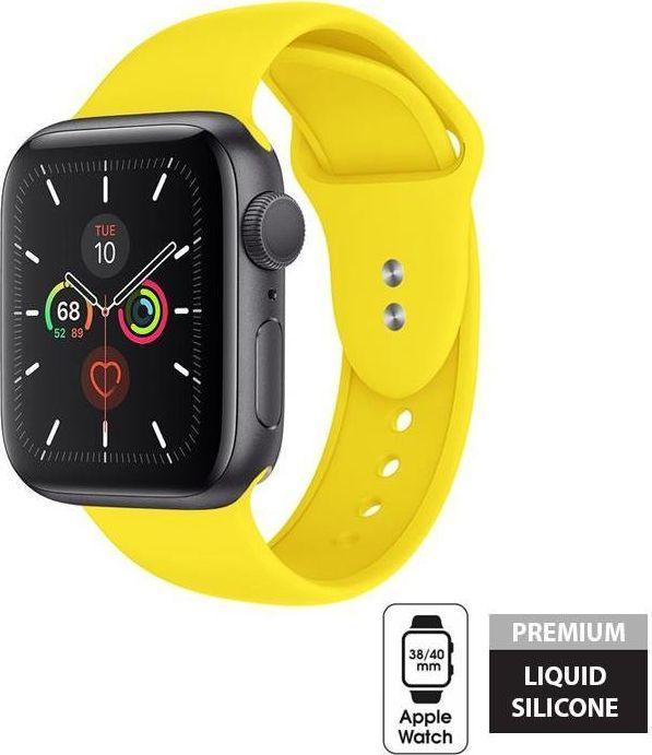 Crong Crong Liquid Band - Pasek Apple Watch 38/40 mm (żółty) uniwersalny 1