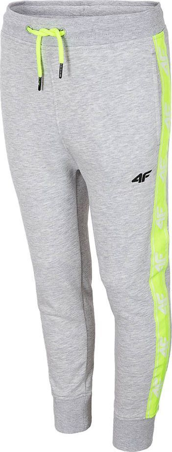 4f Spodnie dla chłopca 4F szary melanż HJL20 JSPMD002 25M : Rozmiar - 128cm 1