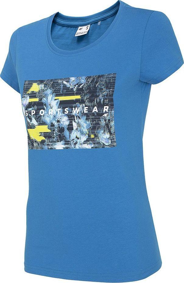 4f Koszulka damska 4F niebieska H4Z20 TSD024 33S : Rozmiar - XS 1